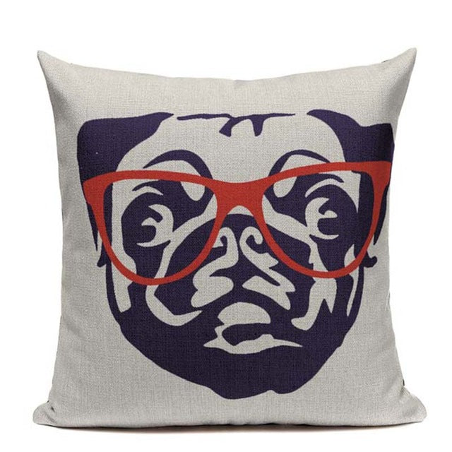 Intellect Pug Cushion Cover