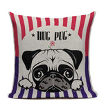 Hug Pug Cushion Cover