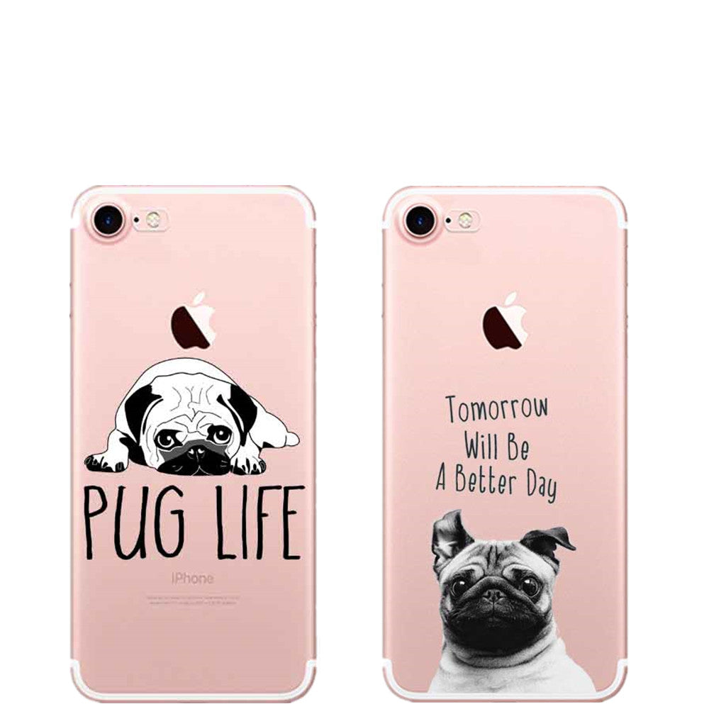 Soft silicone Pug Phone Case Cover