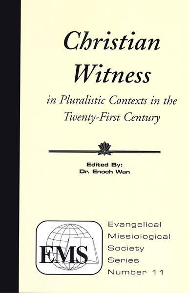 "Cover of the book ""Christian Witness in Pluralistic Contexts in the 21st Century (EMS 11): "" at MissionBooks.org"