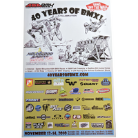 40 Years of BMX Event Poster - Haro Illustration
