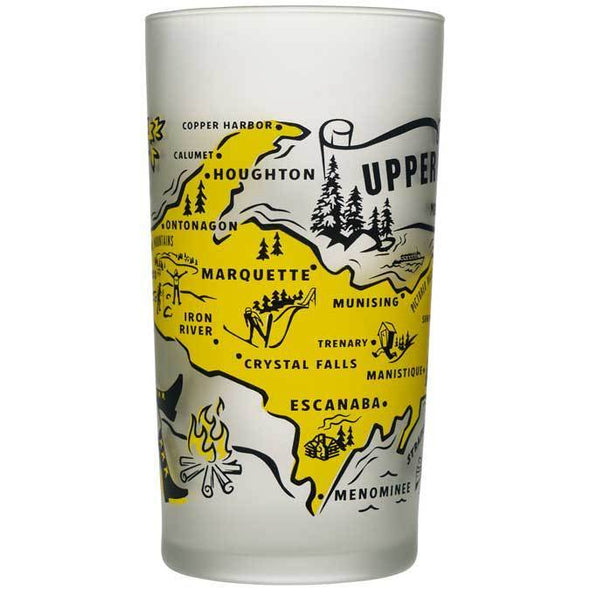 Michigan Goods - Frosted Glass - Upper Peninsula-MittenCrate.com