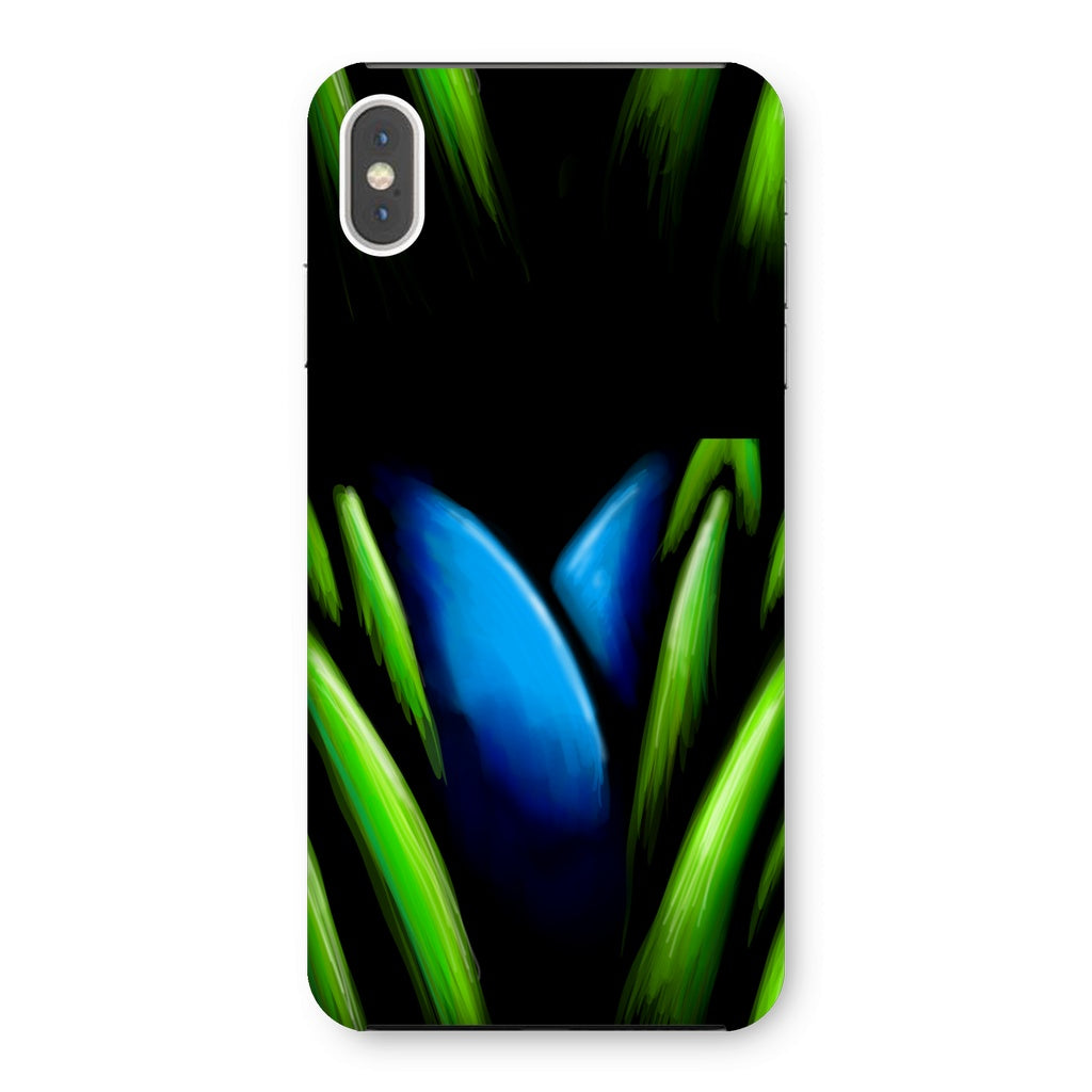 Blue Flower in Grass Phone Case