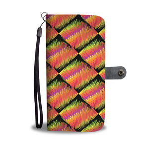 Multicolor Pour Painted Leather Look Phone Case