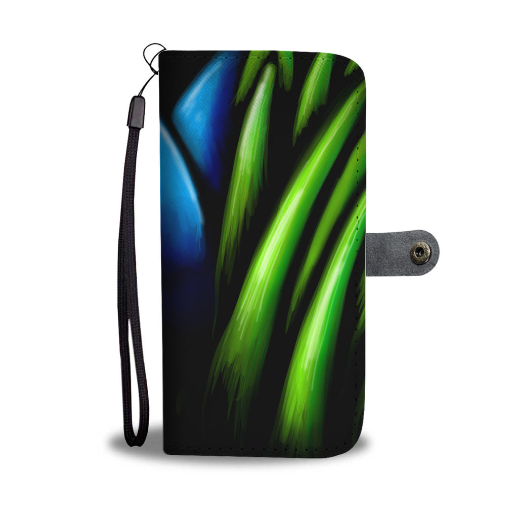 Blue Flower in Grass Leather Look Phone Case
