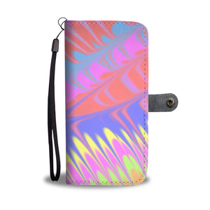 Pour Painting Inspired Leather Look Wallet Phone Case