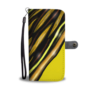 Yellow Mustard Design Leather Look Wallet Phone Case