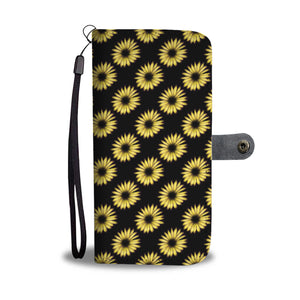 Yellow Sunflower Leather Look Phone Case