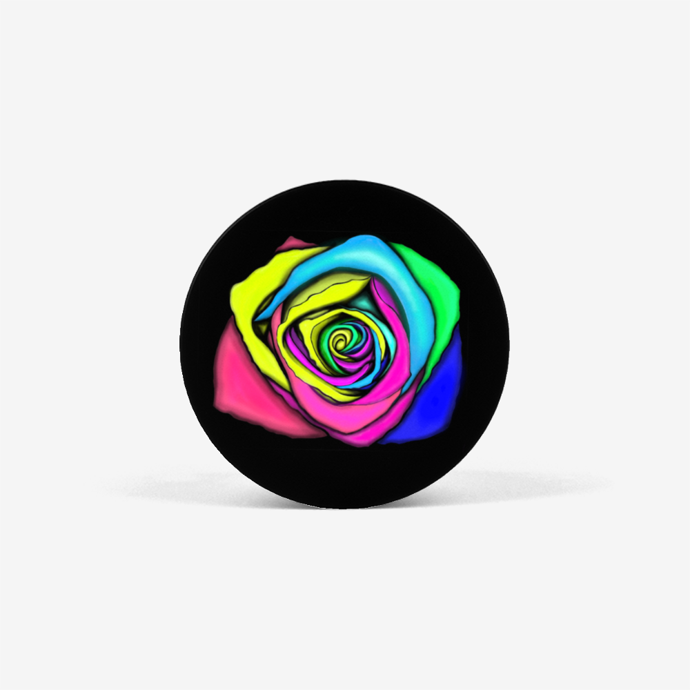Rainbow Rose Collapsible Grip & Stand for Phones and Tablets