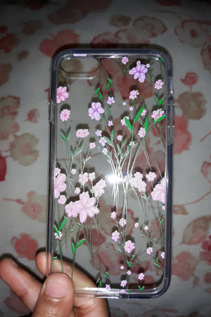 Pressed flower look iPhone Case 1