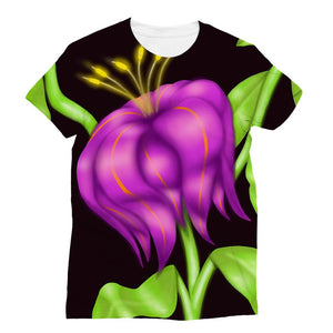 Mystic  Flower allover print tshirt