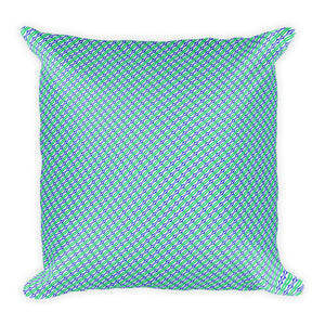 Blue and Green Geometric Throw Pillow