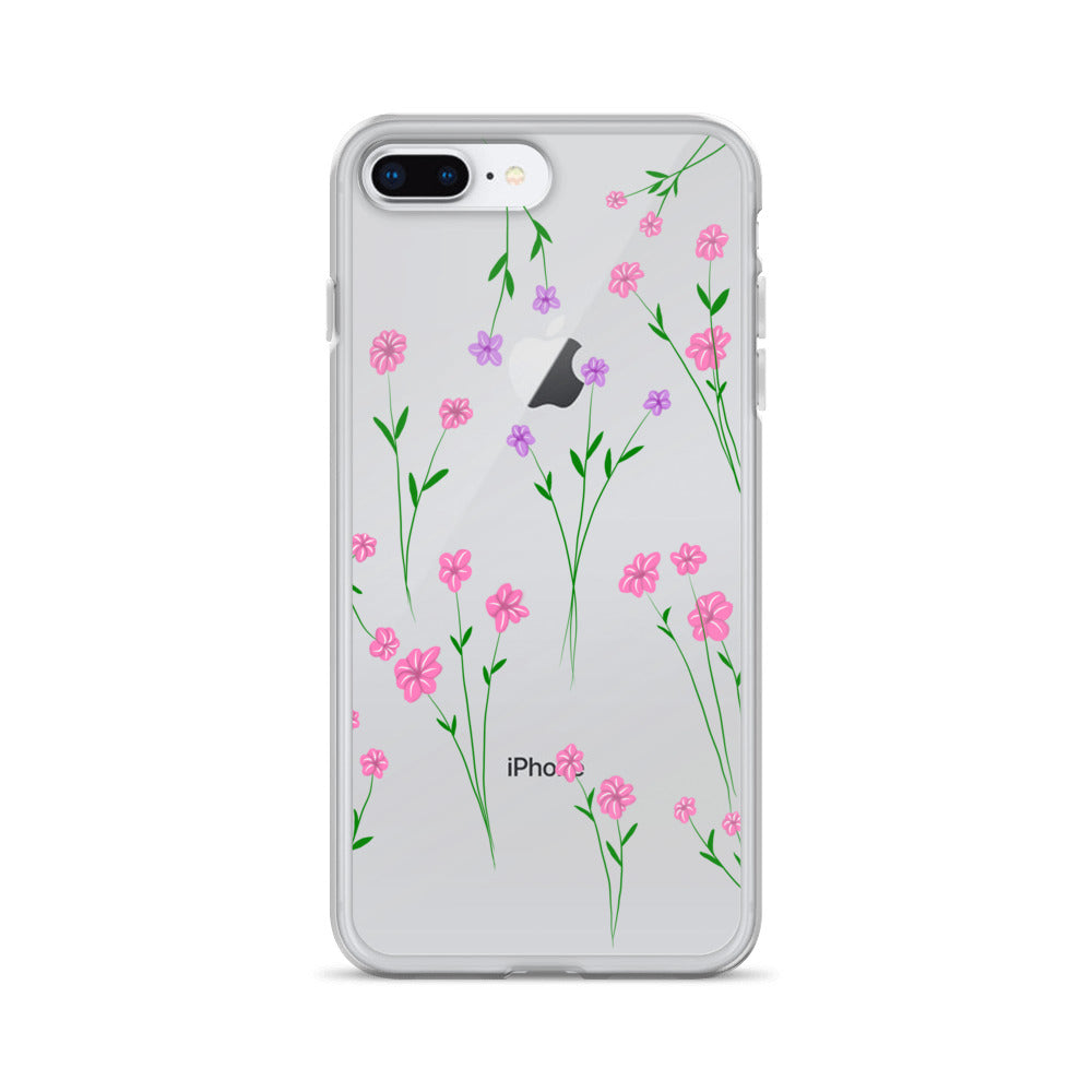 Pressed flower look iPhone Case