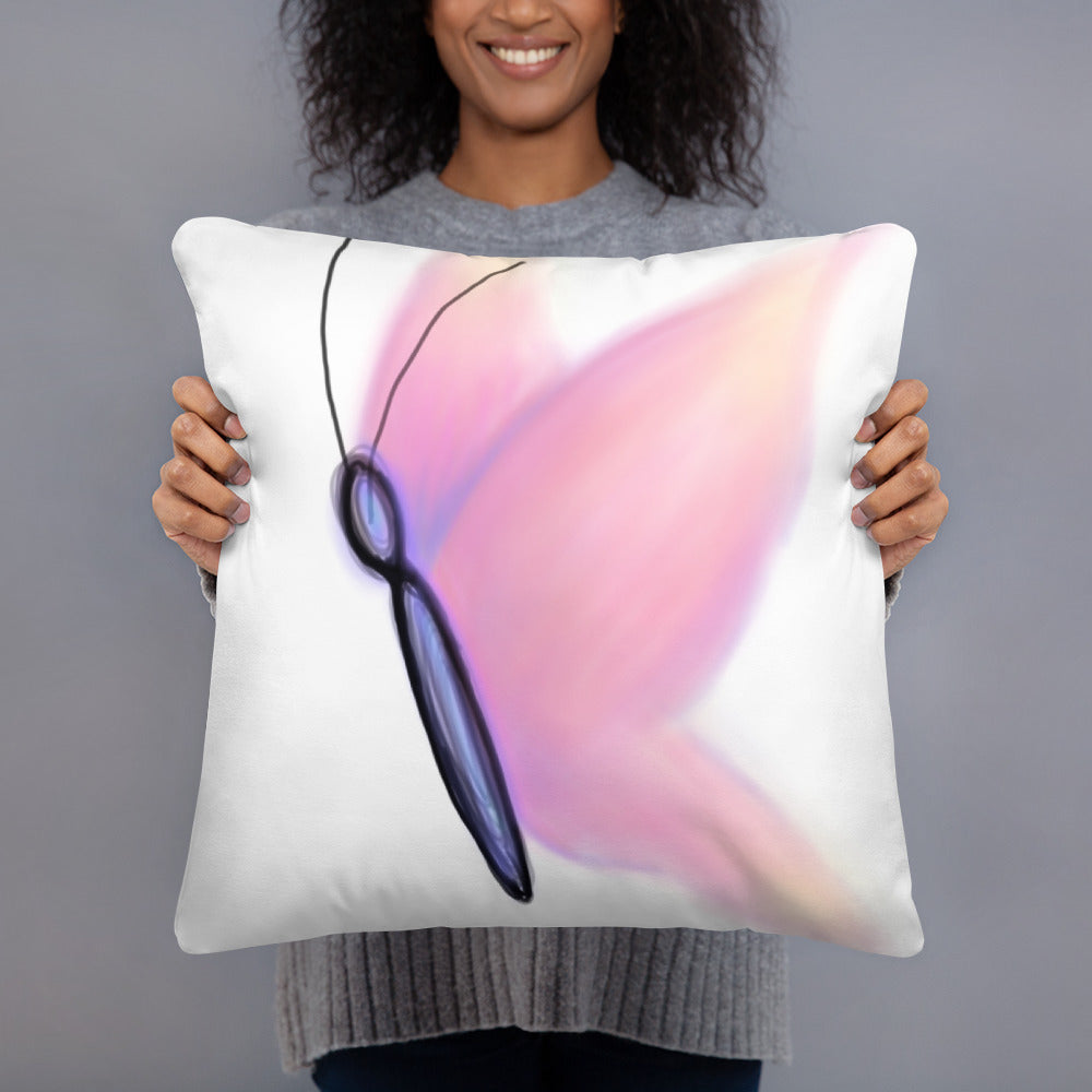 Pastel Abstract Butterfly Throw Pillow