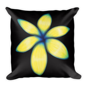 Yellow Flower Floral Pillow 2