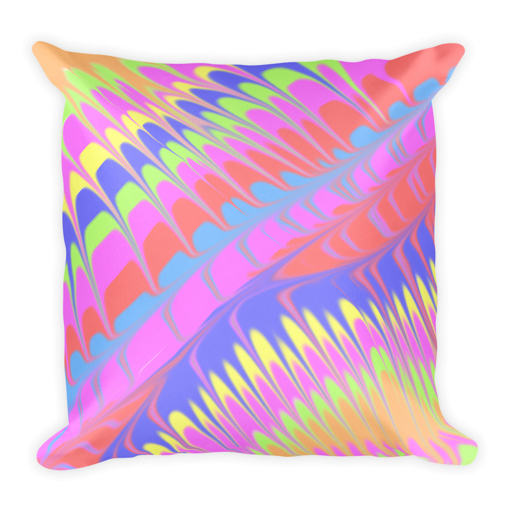 Pour Painting Inspired Throw Pillow