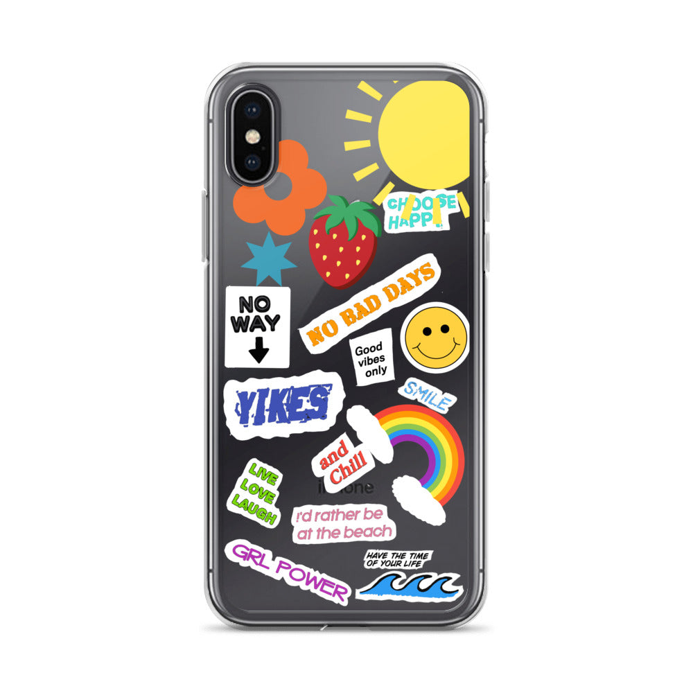 DIY Aesthetic Sticker Look Clear iPhone Case