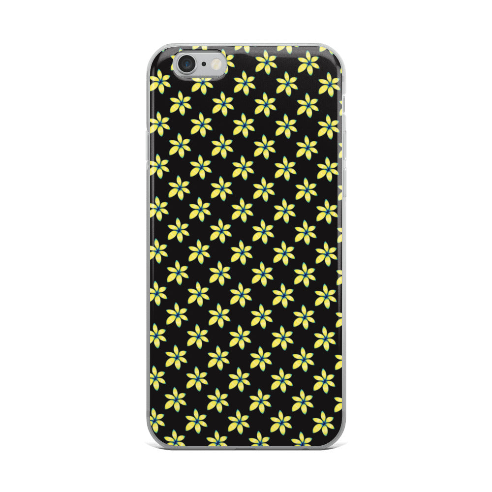 Yellow Flower Floral iPhone Case