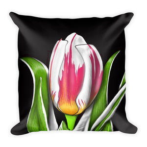 Fire Flower Floral Pillow
