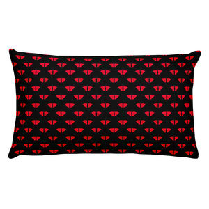 Red Butterfly Throw Pillow 2