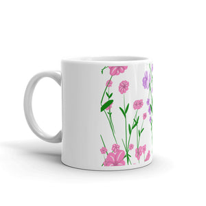 Pink and Purple Flower Mug