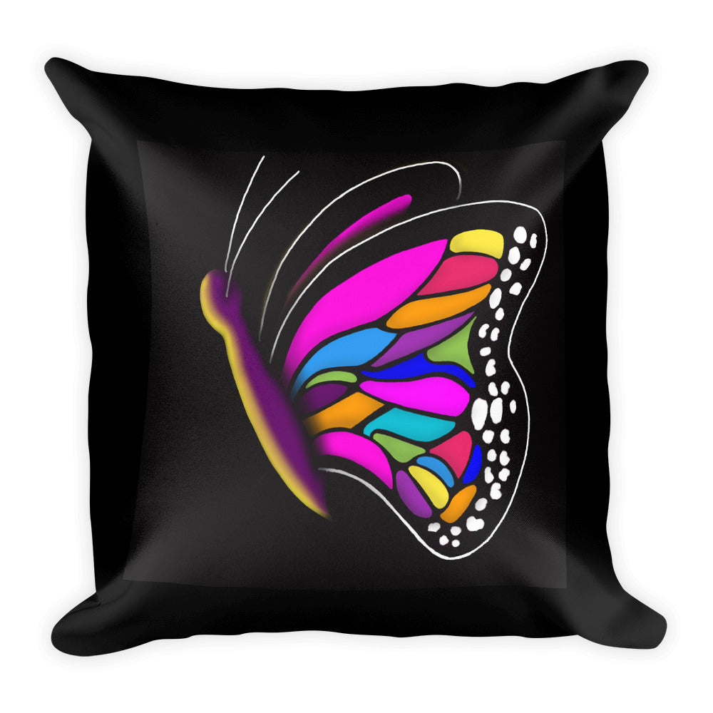 Multicolor Butterfly Throw Pillow