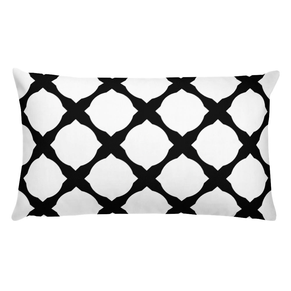Black Geometric throw Pillow