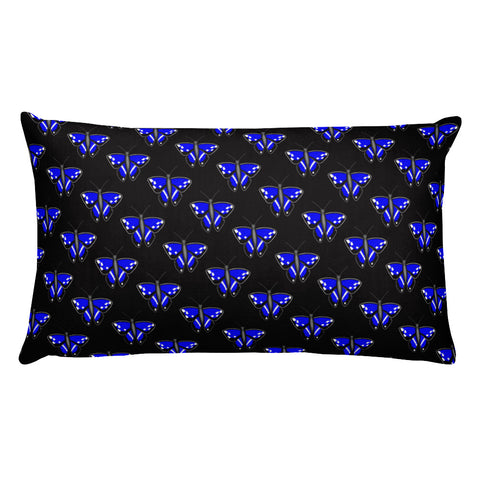Purple Emperor Butterfly Throw Pillow