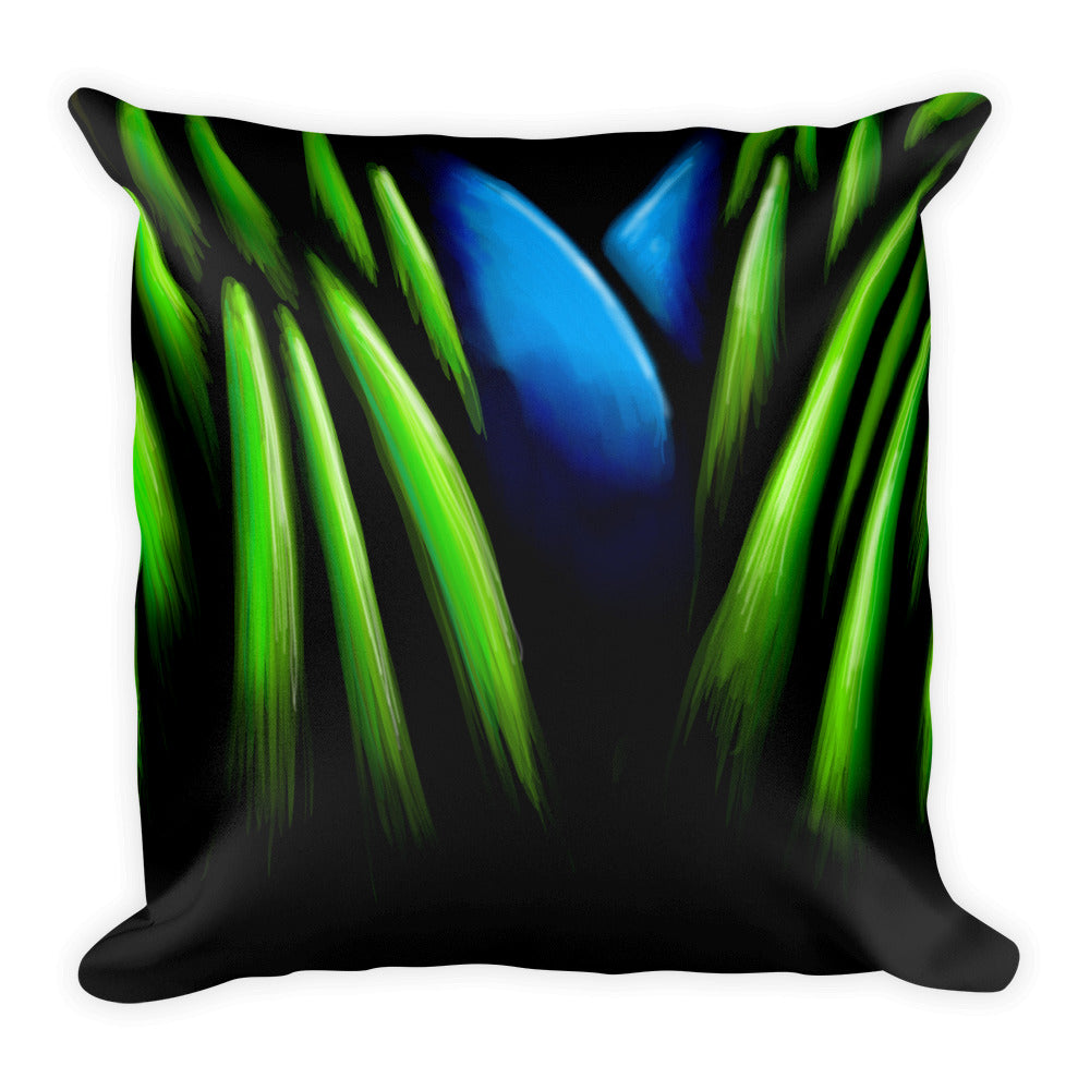 Flower in Jungle Throw Pillow