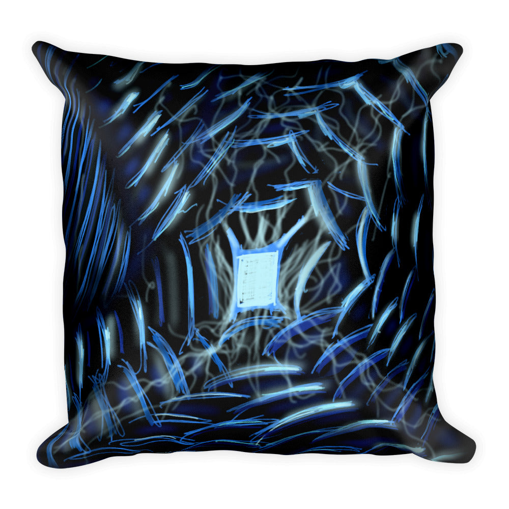 Light at the End of the Tunnel Abstract Art Throw Pillow