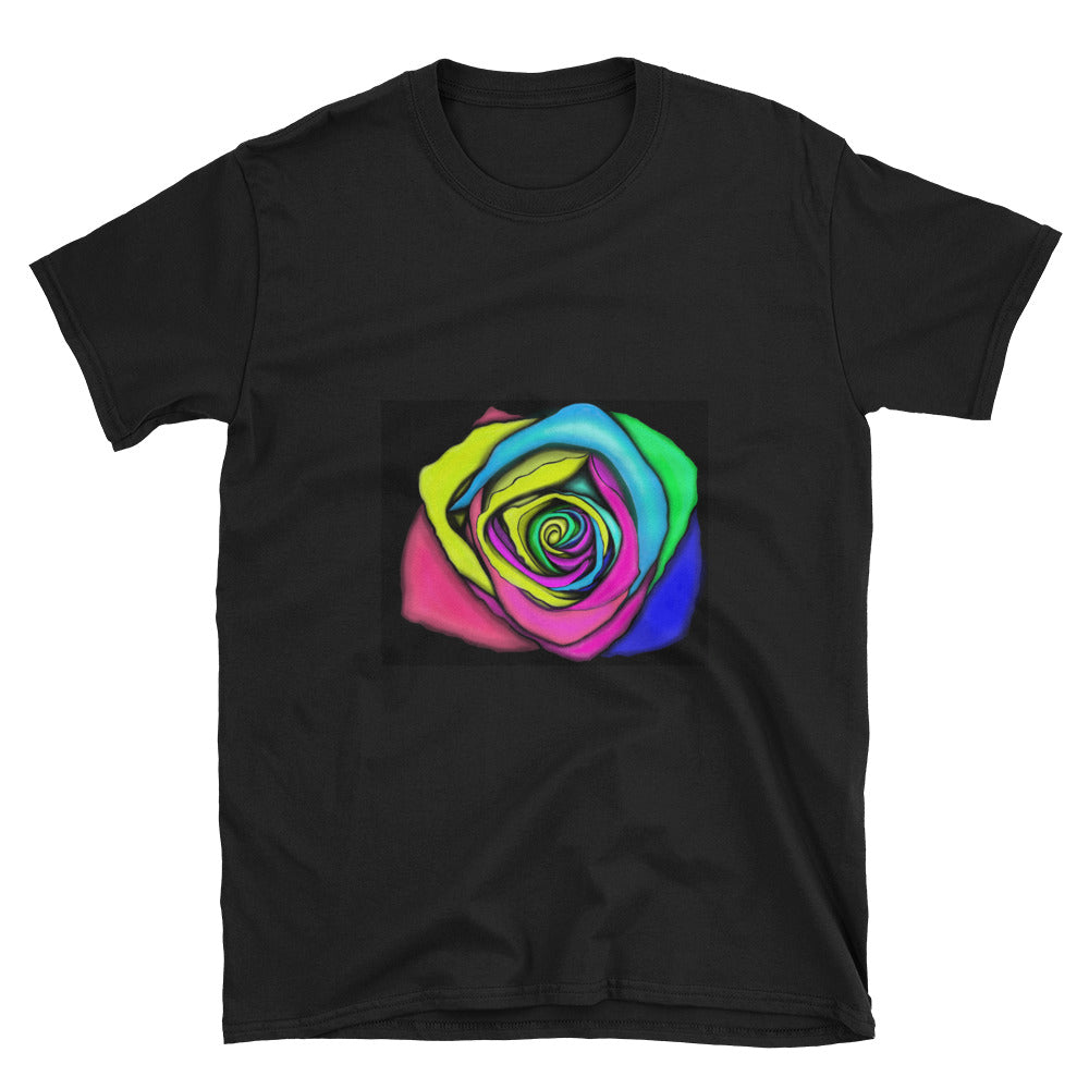 Rainbow Rose Flower Unisex T-Shirt