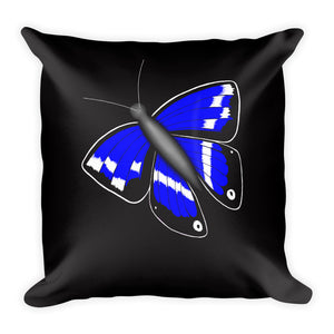 Purple Emperor Butterfly Throw Pillow 2