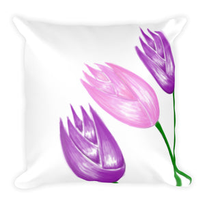 Watercolor Inspired Abstract Flower Throw Pillow