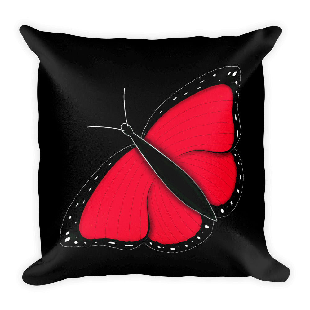 Red Butterfly Throw Pillow
