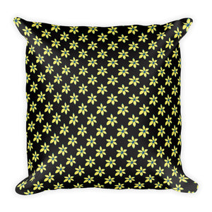 Yellow Flower Floral Pillow
