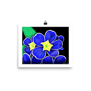 Blue Flower Original Art Print
