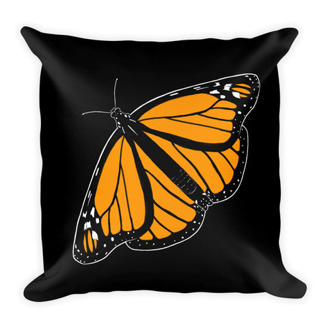Monarch Butterfly Throw Pillow 2