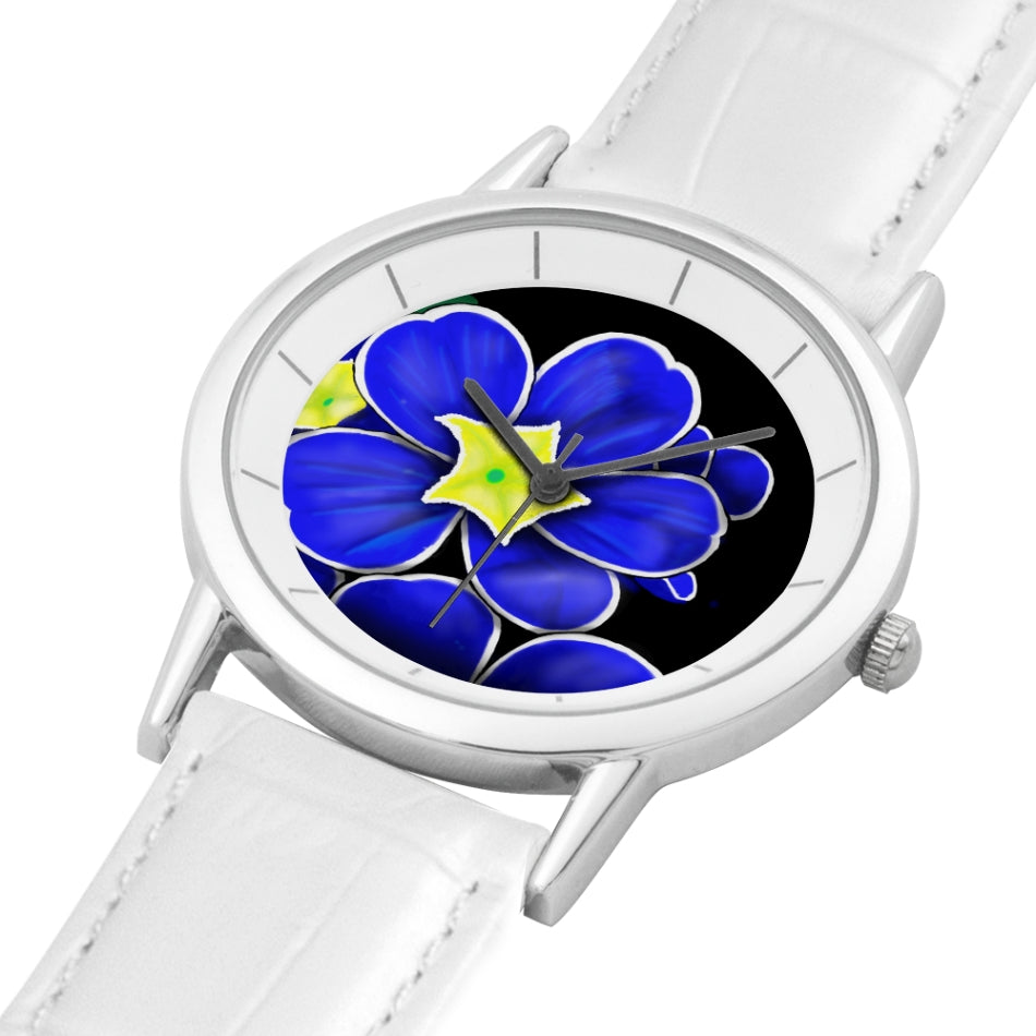 Blue Flower Custom Watch