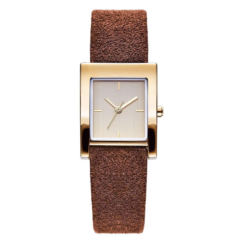 gallery brothers watch watches band as shown in product ladies lyst accessories with rectangular brooks brown