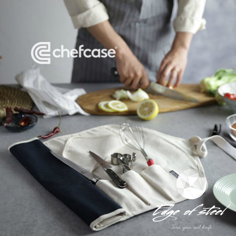 chefcase, kniferoll, knifebag, edgeofsteel, canvas