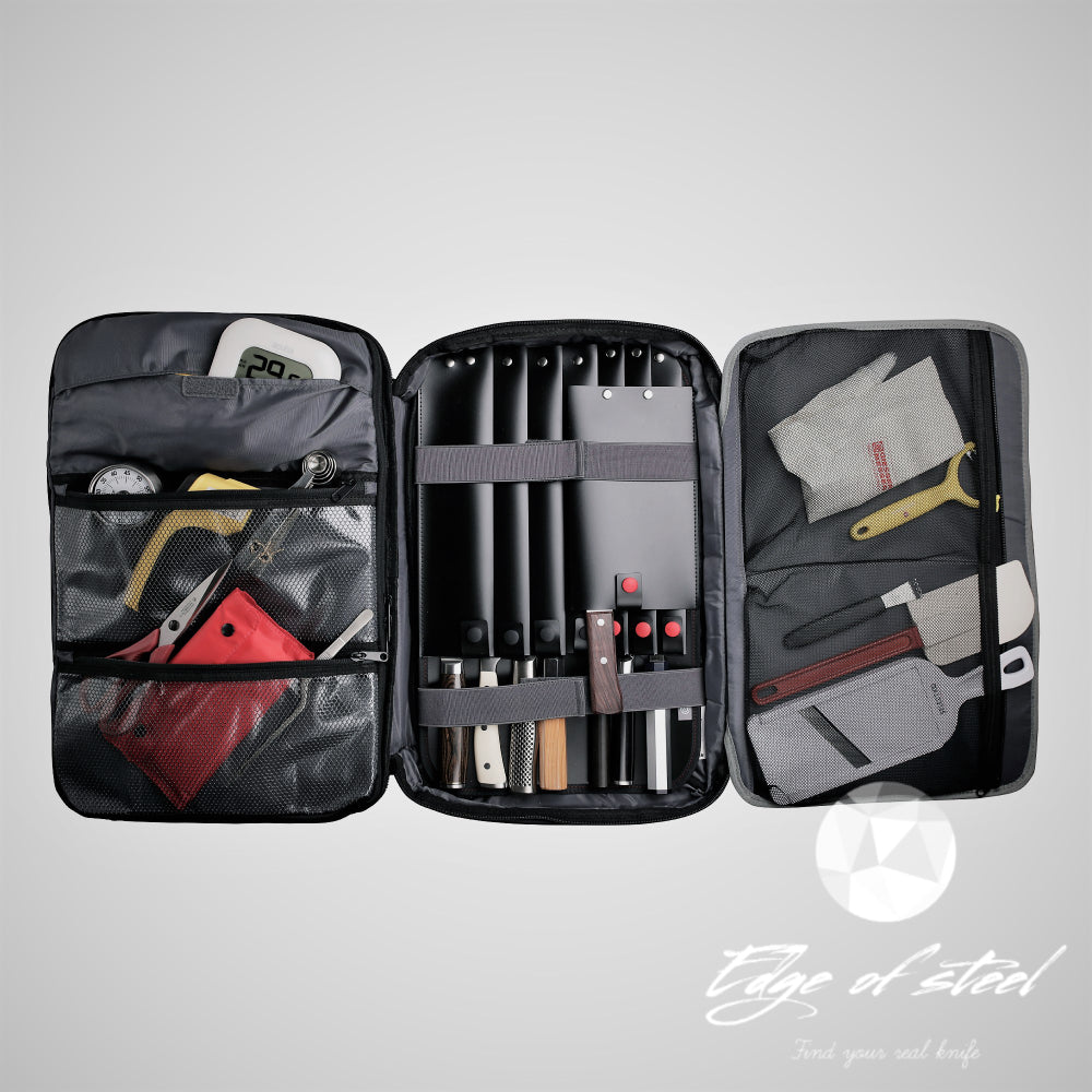 chefcase, chef backpack, backpack, knife bag, knife roll, edgeofsteel, kitchen knives for chefs, Australia, Brisbane