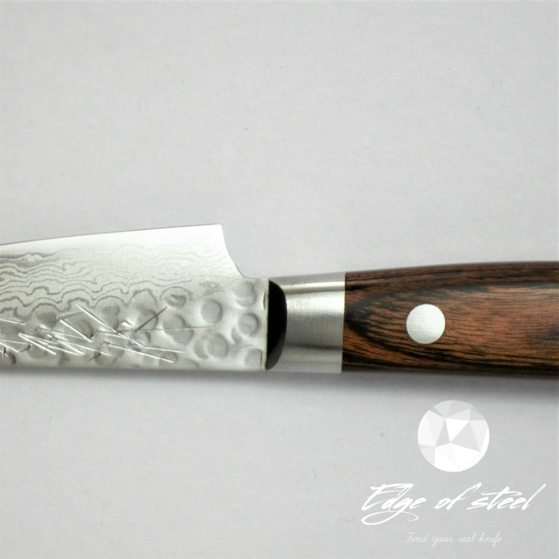 Yoshihiro, VG-10, Hammered, Damascus, layered steel, petty knife, 135mm, kitchen knives brisbane, kitchen knives australia