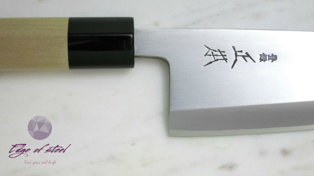 Masamoto, Kasumi, white paper steel, Deba, butcher knife, Japanese knives, 180mm, kitchen knives brisbane, kitchen knives australia
