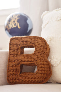 Custom Knit Letter Pillow