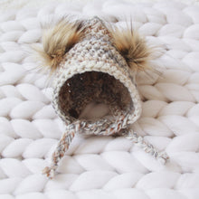 Thick and Cozy Arctic Fox Bonnet Custom Order