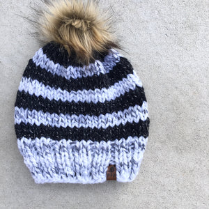 Thick Striped Knit Hat Custom Order