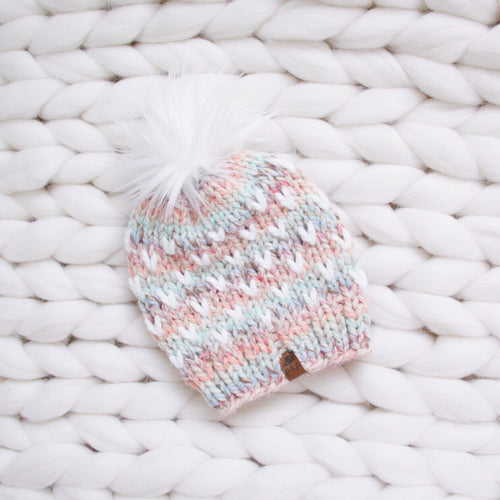 Ready to Ship Mini Heart Knit Hat