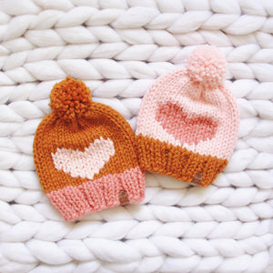 Color Dipped Love You More Knit Hat Custom Order