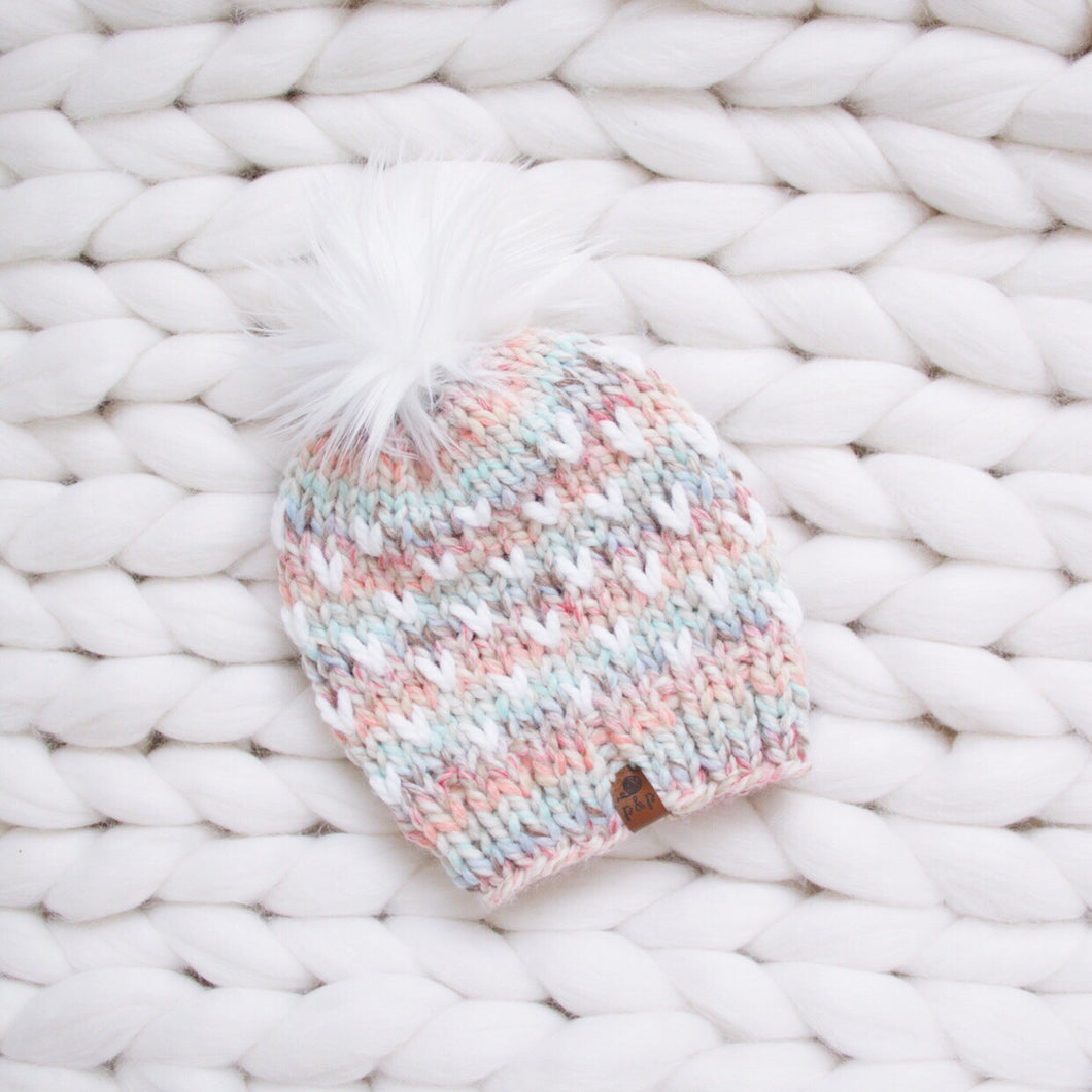 Mini Heart Knit Hat Custom Order