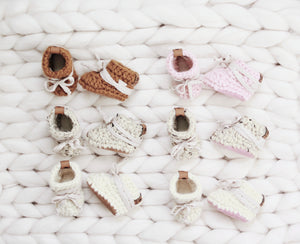 Leather Bottom Baby Slippers